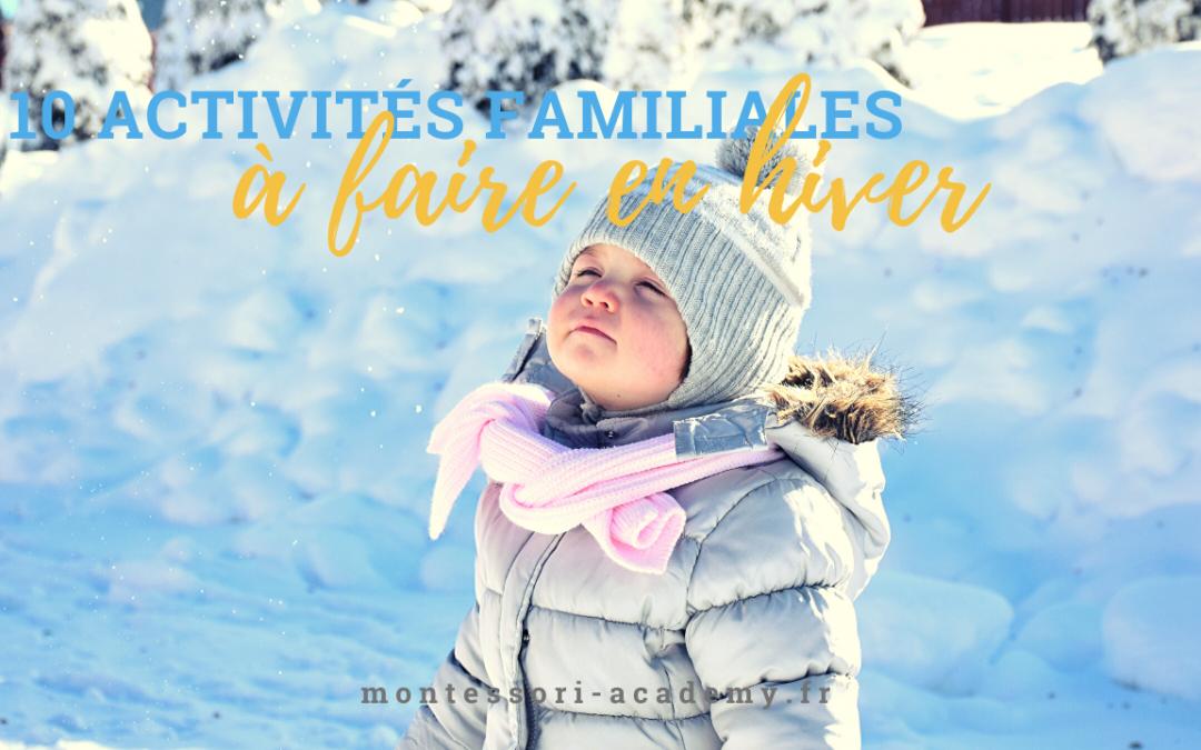10 activités familiale à faire en hiver