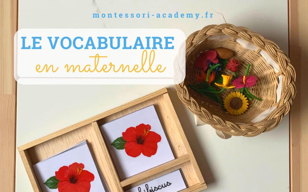 Développer le vocabulaire en maternelle